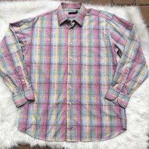 St croix Italian dress button down shirt men's lg
